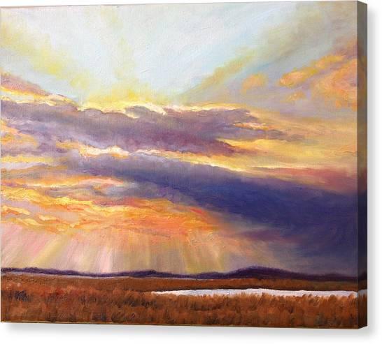 Glory Lights Canvas Print
