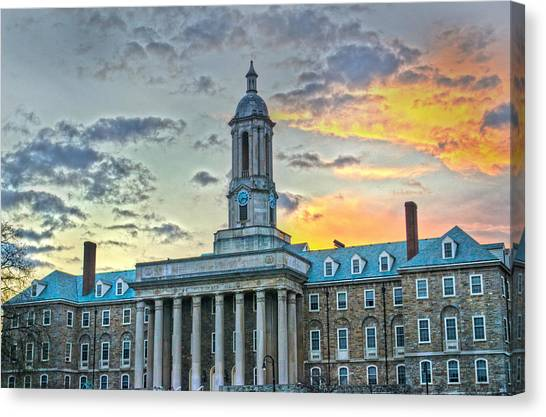 Pennsylvania State University Canvas Print - Glory Of Old State by Michael Misciagno