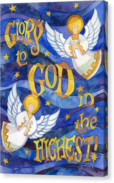 Incarnation Canvas Print - glory to God by Mark Jennings