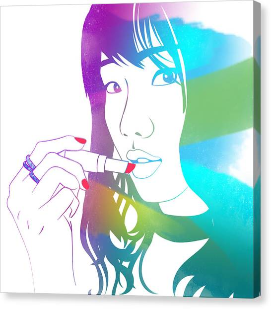 Glossy Girl Canvas Print