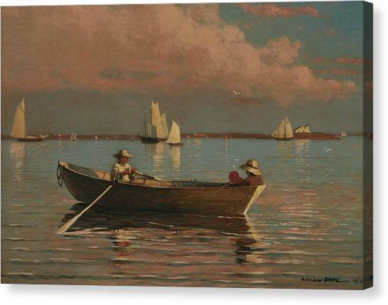 Winslow Canvas Print - Gloucester Harbor by Winslow Homer