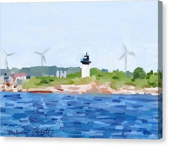 Gloucester Ma Skyline From Harbor Canvas Print