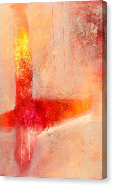 Big Red Canvas Print - Glow 2 Abstract Art by Nancy Merkle