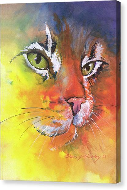 Glow Cat Canvas Print