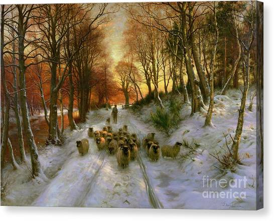 Glowing Canvas Print - Glowed With Tints Of Evening Hours by Joseph Farquharson