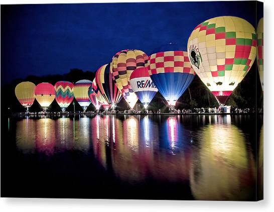 Glowing Balloons Canvas Print