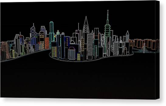 Glowing City Canvas Print