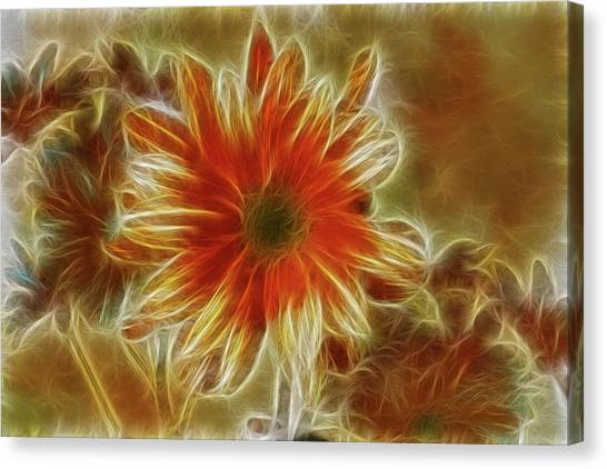 Glowing Flower Canvas Print