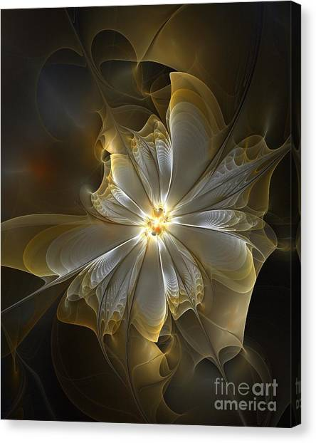 Apophysis Canvas Print - Glowing In Silver And Gold by Amanda Moore
