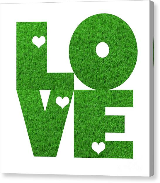 Fantasy Canvas Print - Glowing Love - Green by Prar Kulasekara