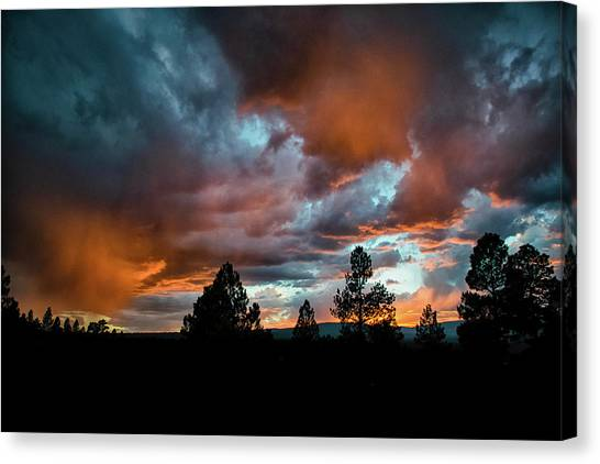 Canvas Print featuring the photograph Glowing Mists by Jason Coward