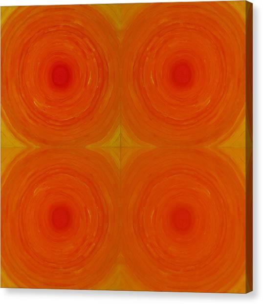 Glowing Orange Canvas Print