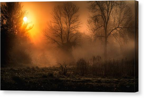 Sunrise Canvas Print - Glowing Sunrise by Everet Regal