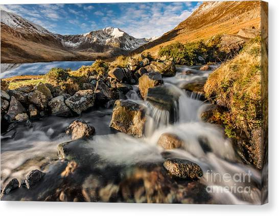 Ogwen Valley Canvas Print - Glyder Fawr Mountains by Adrian Evans