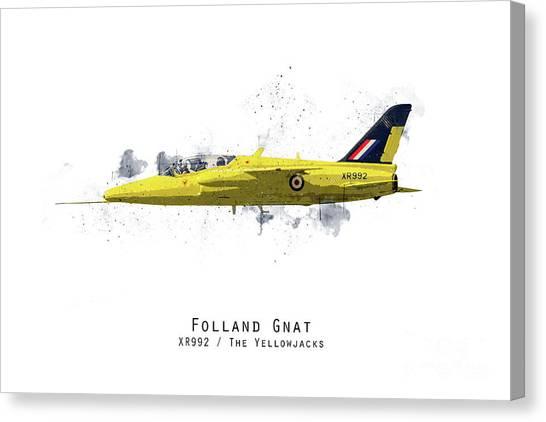 Gnats Canvas Print - Gnat Sketch - Yellowjacks by J Biggadike