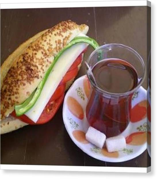 Sandwich Canvas Print - Günaydın Almanya  #günaydın #sabah by Melissa Steinberg