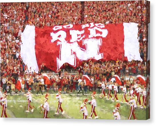 University Of Nebraska Canvas Print - Go Big Red by Susan Westervelt