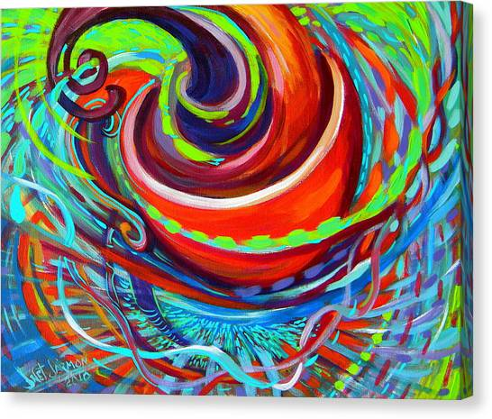 Canvas Print featuring the painting Go Cup by Jeanette Jarmon