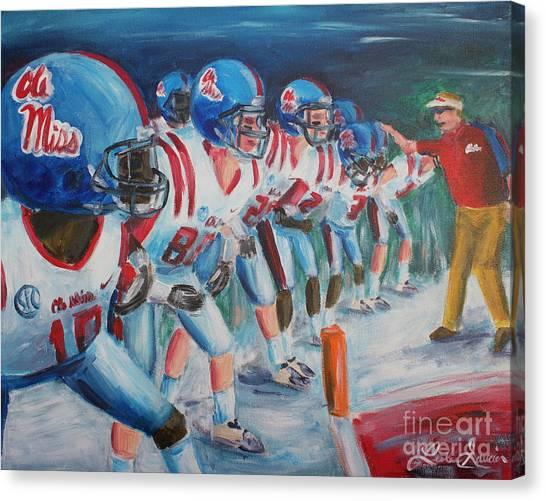 University Of Mississippi Ole Miss Canvas Print - Go Get 'em  by Leslie Saucier