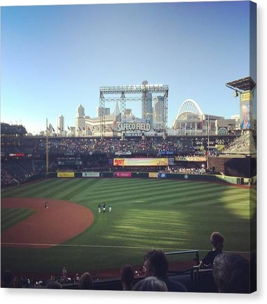 Seattle Mariners Canvas Print - Go M's!! #mariners #safecofield by Bea Magno