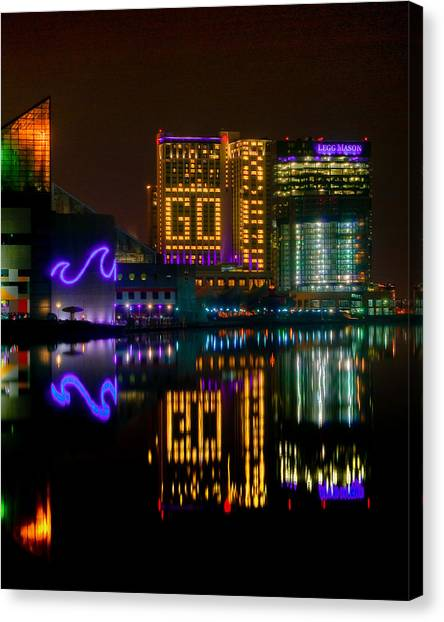 Go Ravens Baltimore Inner Harbor Canvas Print