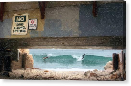 Go Right  Go Left Canvas Print by Ron Regalado