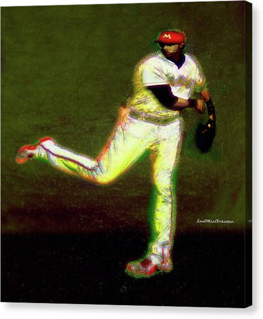 Go Yelich Baseball Art 1 Canvas Print
