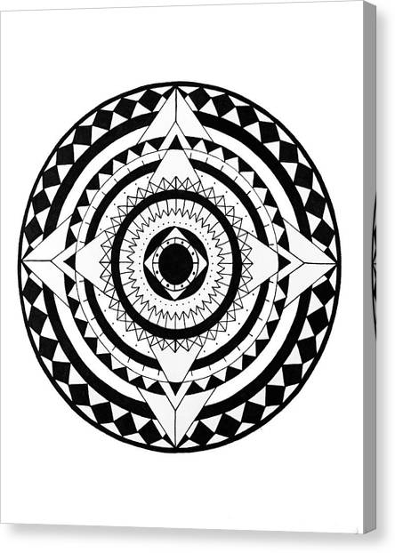 Black And White Canvas Print - Go Your Own Way by Elizabeth Davis