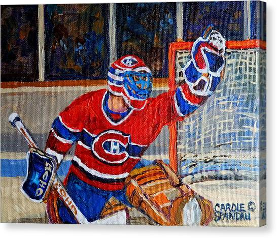 Goalie Makes The Save Stanley Cup Playoffs Canvas Print