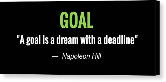 Goal Canvas Print - Goals by Greg Joens