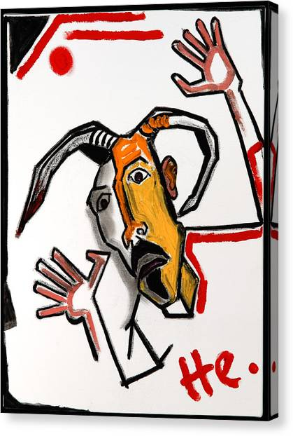 Goat 24x18 Canvas Print
