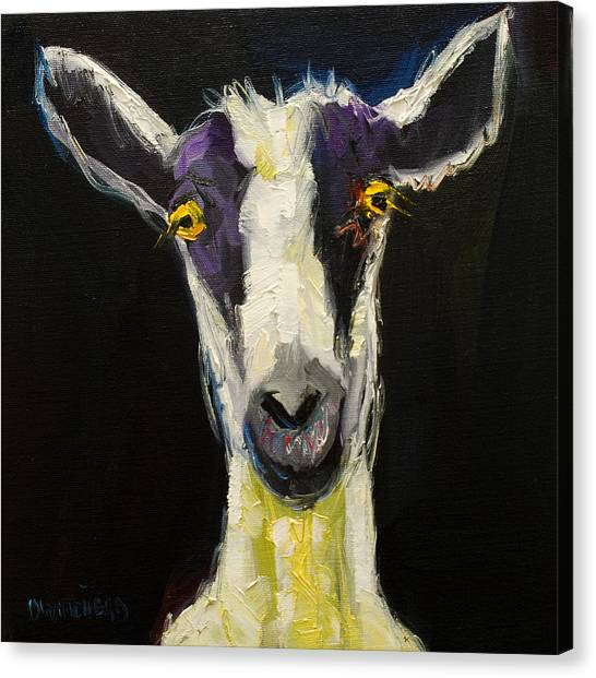 Goats Canvas Print - Goat Gloat by Diane Whitehead