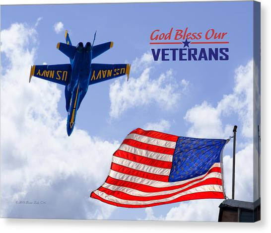 God Bless Our Veterans Canvas Print