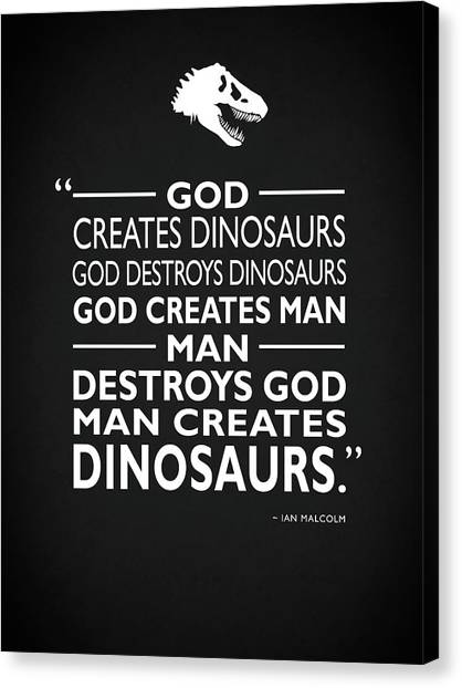 Jurassic Park Canvas Print - God Creates Dinosaurs by Mark Rogan
