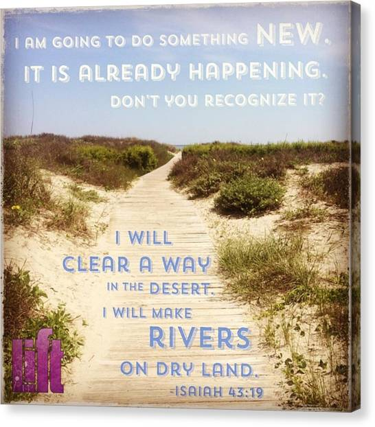 Design Canvas Print - God Is Able To Make A Way Where There by LIFT Women's Ministry designs --by Julie Hurttgam