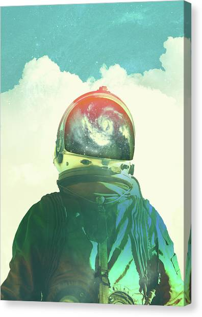 Surrealism Canvas Print - God Is An Astronaut by Fran Rodriguez
