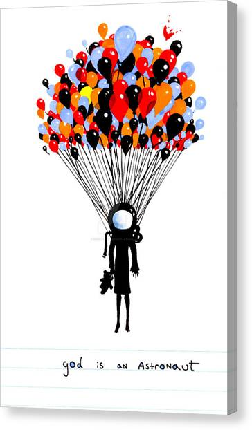 God Canvas Print - God Is Astronaut Baloon by Irendi Oktaviary Rizki