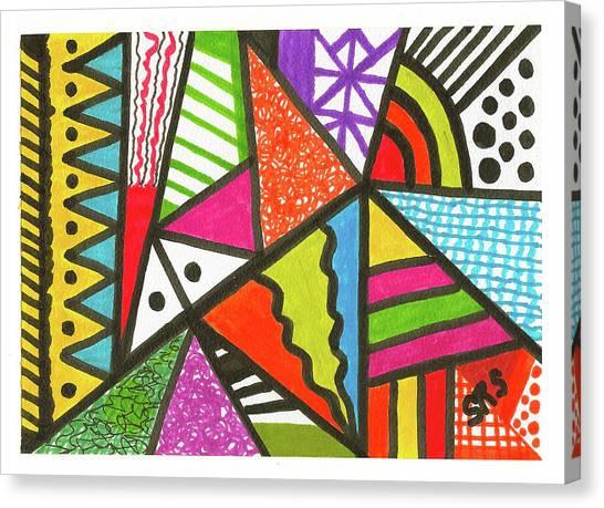 God Is Color Redux Canvas Print