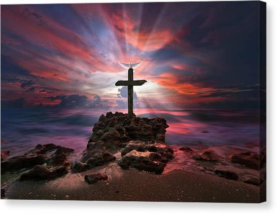 God Is My Rock Special Edition Fine Art Canvas Print