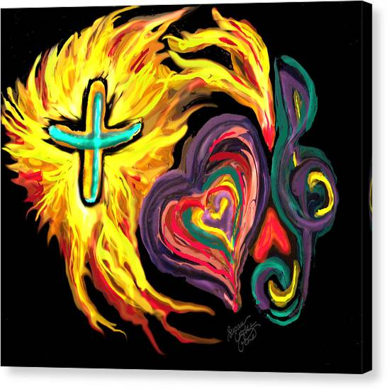 God Love Music Canvas Print by Susan Cooke Pena