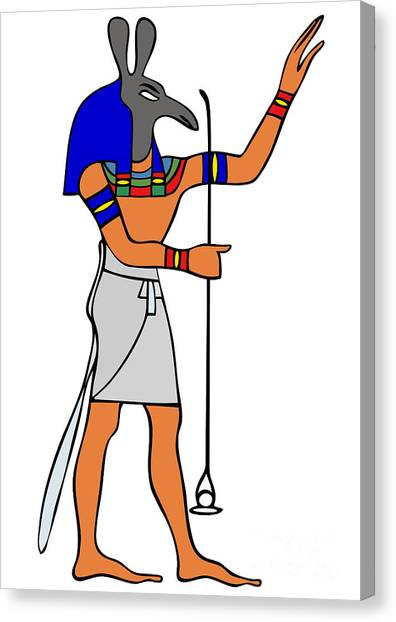 Archeology Canvas Print - God Of Ancient Egypt - Seth by Michal Boubin