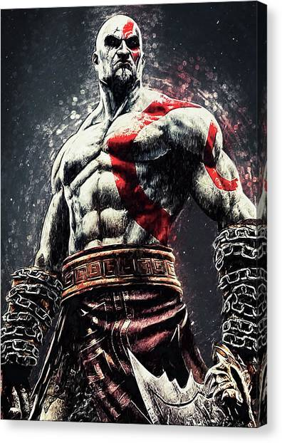 Playstation Canvas Print - God Of War - Kratos by Zapista