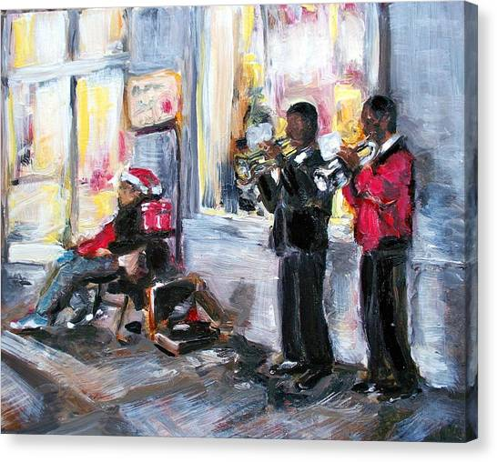God Rest Ye Merry Gentlemen Canvas Print by Sheila Tajima