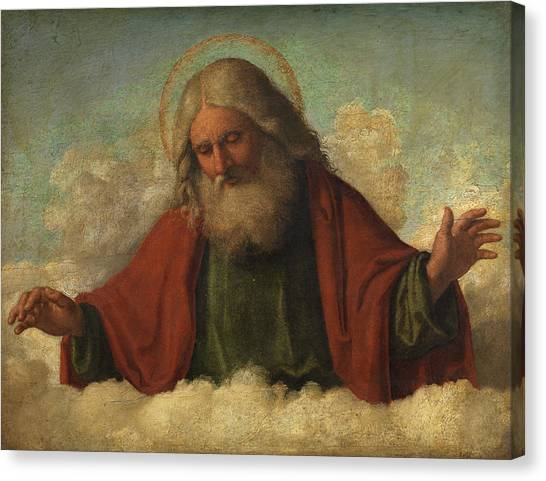 Sacred Canvas Print - God The Father by Cima da Conegliano