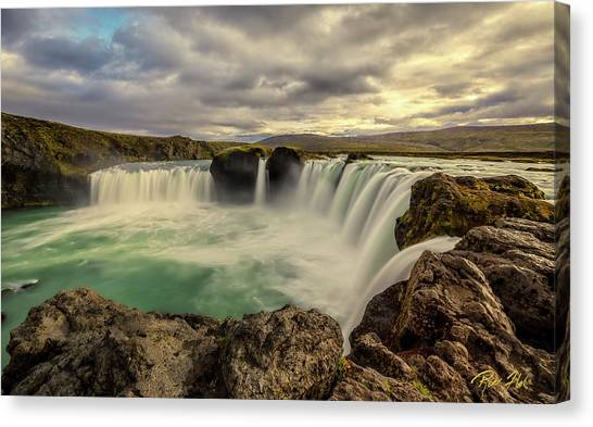 Canvas Print featuring the photograph Godafoss In Late Afternoon by Rikk Flohr
