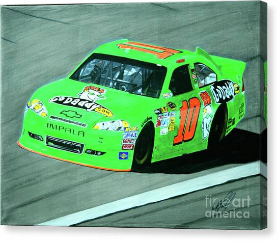 Stewart-haas Racing Canvas Print - Godanica by William Homeier