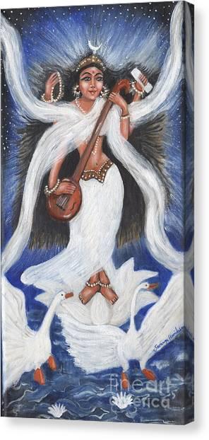 Goddess Of Arts Canvas Print