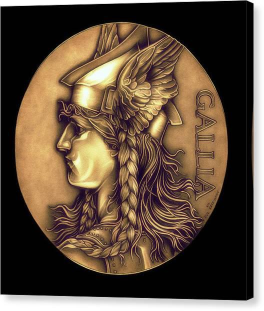 Warrior Goddess Canvas Print - Goddess Of Gaul by Fred Larucci