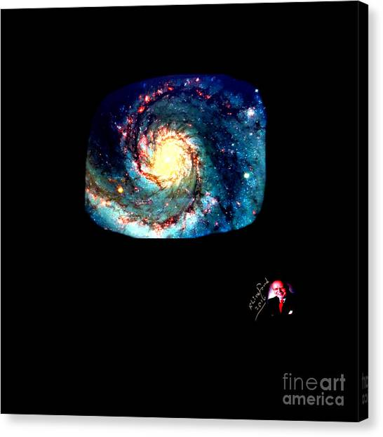 Godhood 2 - Whirlpool Galaxy Canvas Print