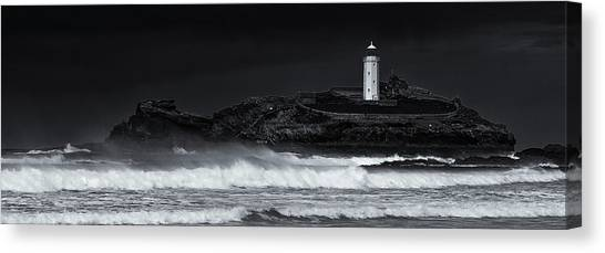 St Ives Canvas Print - Godrevy Lighthouse by Nigel Jones
